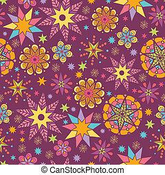 Colorful stars seamless pattern background
