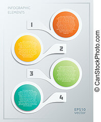 Colorful Steps Infographics Elements