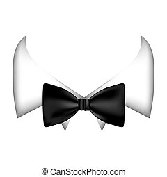 colorful sticker bow tie with shirt icon