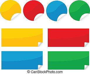 colorful sticker , postit set