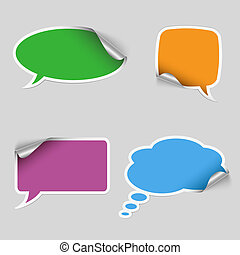 Colorful stickers dialog bubble