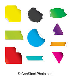 Colorful Stickers (vector)