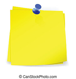 Colorful sticky notes attached with blue pin