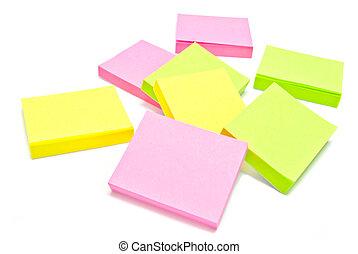 colorful sticky notes