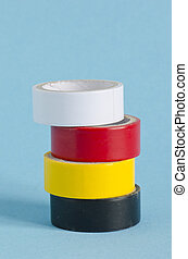 Colorful sticky tape tool for wire isolation