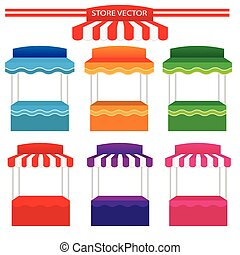 Colorful store vector