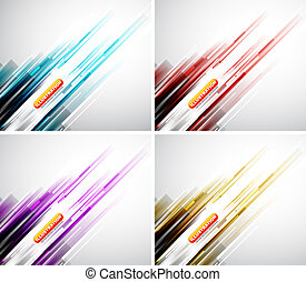 Colorful straight lines background - Urban abstract vector...