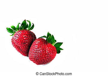 Colorful strawberries