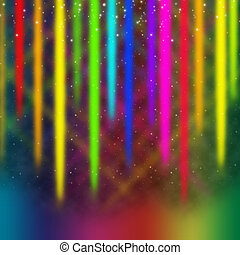 Colorful Streaks Background Means Multicolored Bands in Sky