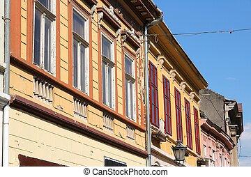 Serbia - Colorful street in Novi Sad town in Serbia.