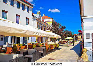 Colorful street of Cakovec view