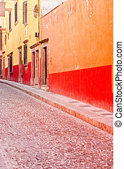 Colorful Streets in San Miguel de Allende - A colorful...