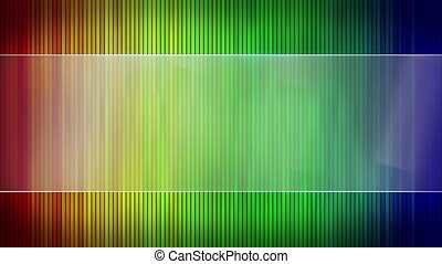 colorful stripes and blank banner seamless loop