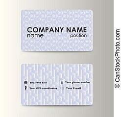 colorful stylish business card template design