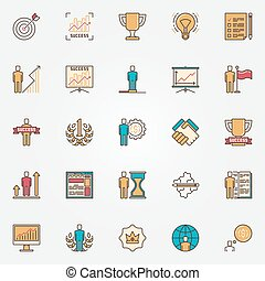 Colorful success icons