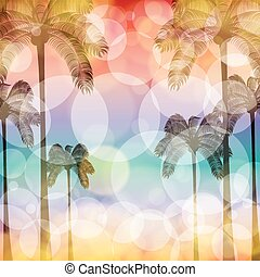 Colorful summer beach template