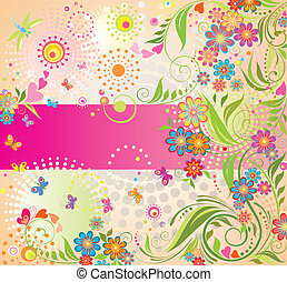 Colorful summer card