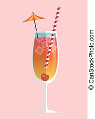 Colorful Summer cocktail design