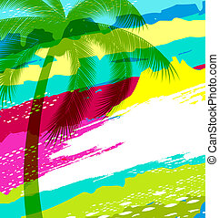 summer holiday - colorful summer holiday background with ...