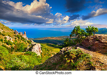 Colorful summer landscape in the Crimea