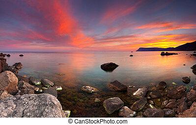 Colorful summer seascape