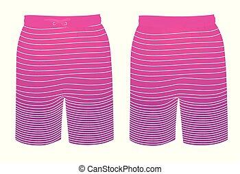 Colorful summer shorts