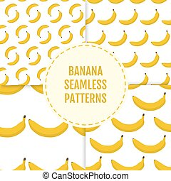 Colorful summer stylish seamless pattern with bananas.