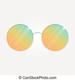 Colorful summer sunglasses