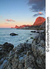 Colorful sunrise on the sea