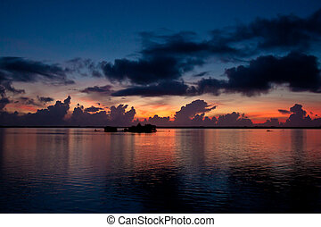 Colorful sunrise over the Sebastian River