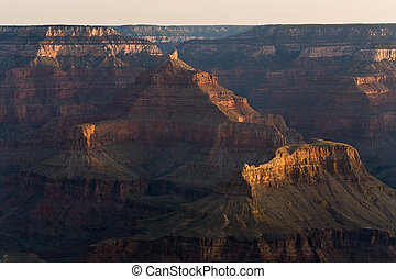 colorful Sunrise seen from Mathers Point at the Grand Canyon