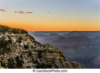 Colorful Sunset at the Great Canyon seen from Maters Point