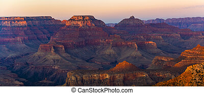 Colorful Sunset at the Great Canyon