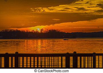 Colorful Sunset At The Lake