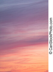 Colorful sunset clouds at dusk sky scape background