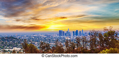 Colorful sunset in Los Angeles