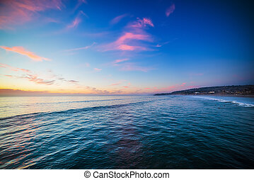 colorful sunset in Pacific Beach