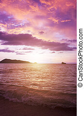 Colorful sunset in the Adaman Sea. Thailand
