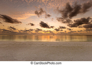 Colorful Sunset In The Beach