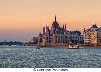 Hungarian Parliament Building in Budapest, Hungary