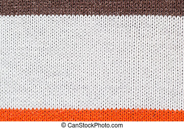 sweater thread texture background ,Multicolor front loops of wool yarn knitted background