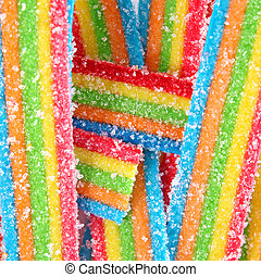 Colorful sweet bright Jelly sugar candies background