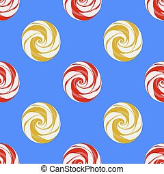 Colorful Sweet Candy Seamless Pattern