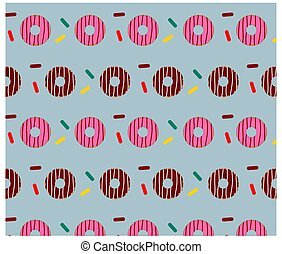 Colorful sweet doughnut pattern background