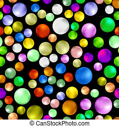 Colorful Sweet Gumball Seamless Pattern