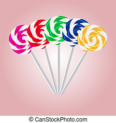 colorful sweet lollipops eps10