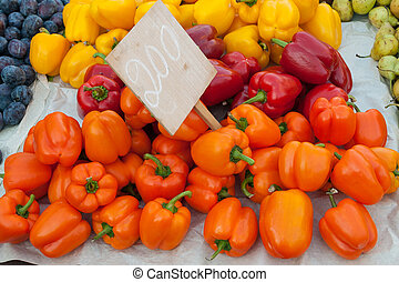 Colorful sweet peppers on sale
