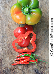 colorful sweet peppers