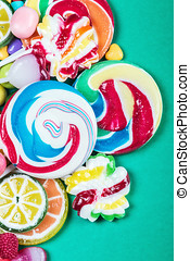 Colorful sweets and candies