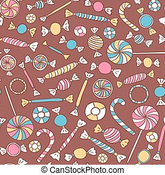 Colorful Sweets Seamless Pattern